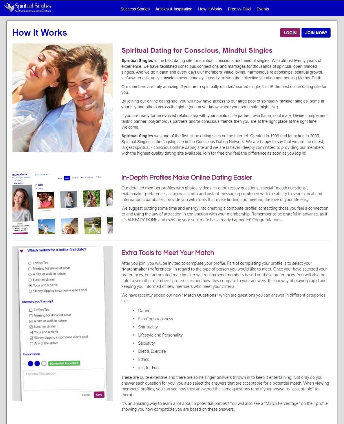 Spiritual Singles Dating Website